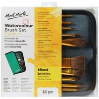 MM Brush Set in Wallet 11pc - Watercolour